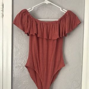 Harlow and Graham pink body suit - small.